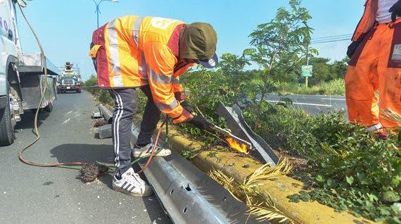 MOPC inicia plan de reparación y sustitución de barandas de seguridad en las principales carreteras
