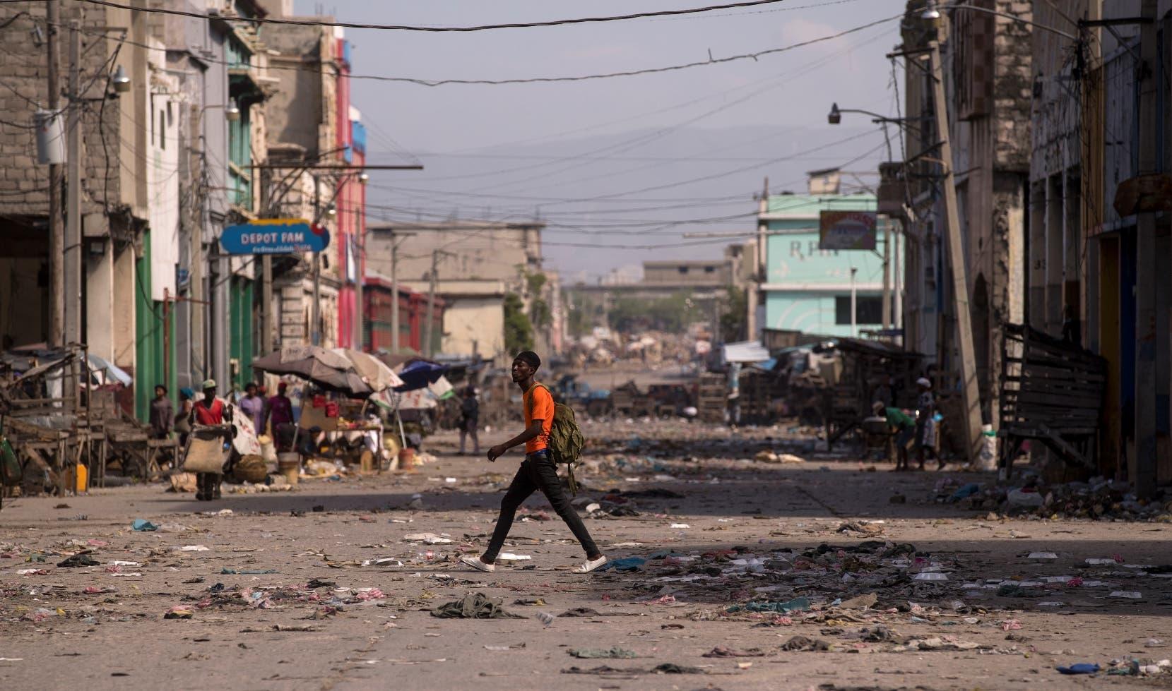 Haití vive tercera jornada de paro; actividad es muy lenta