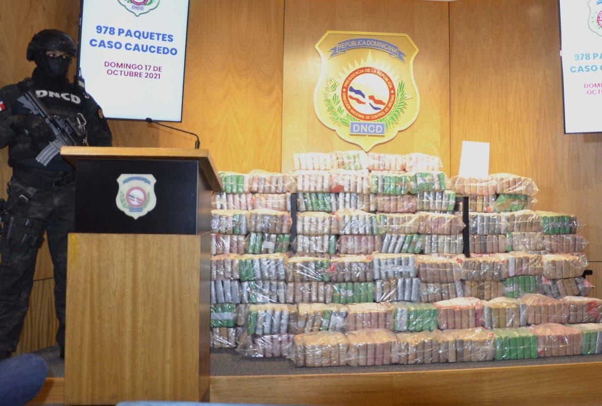 DNCD ocupa mil kilos de cocaína en Caucedo