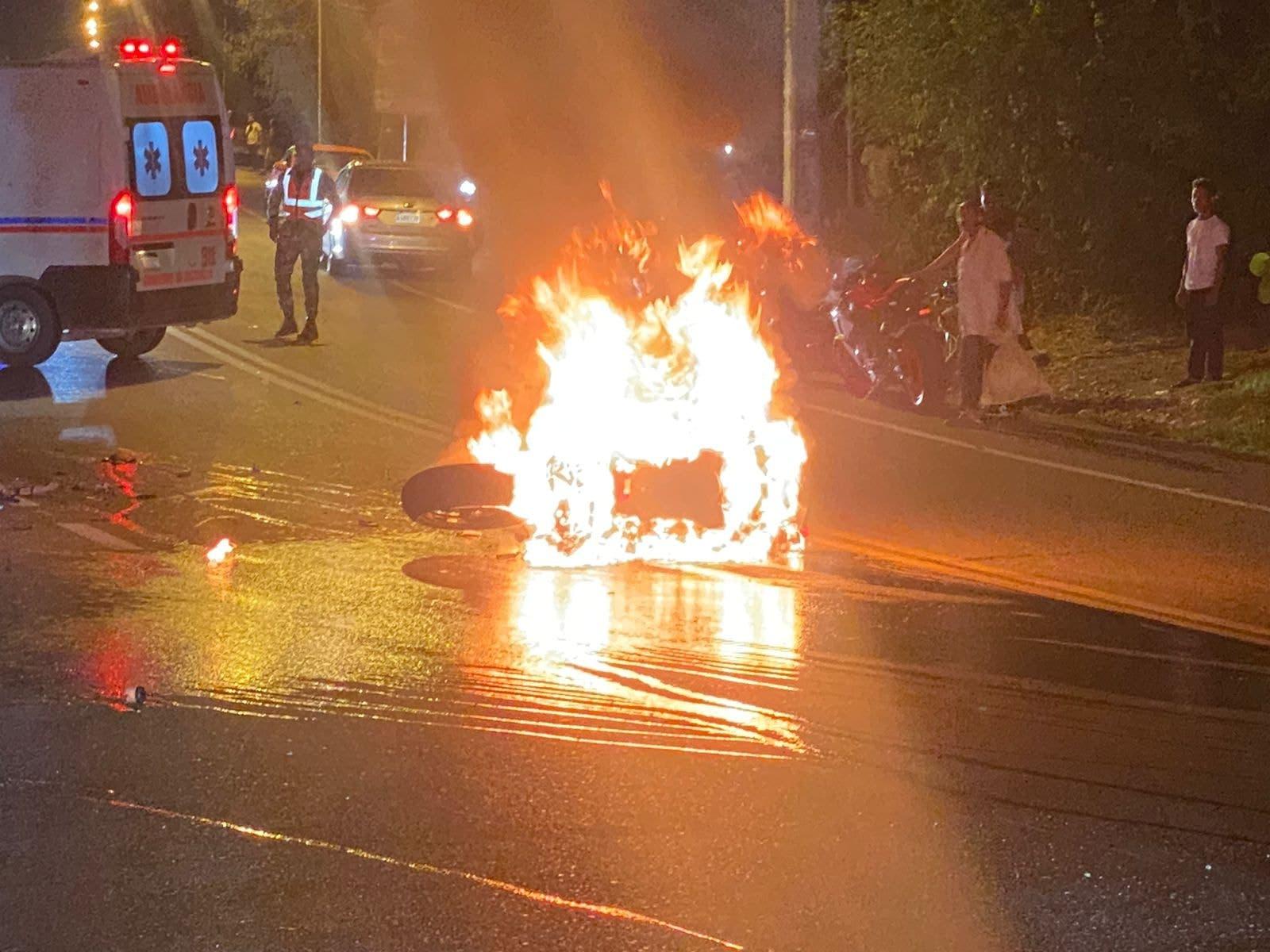 Cuatro personas resultan heridas en dos accidentes de tránsito en Puerto Plata