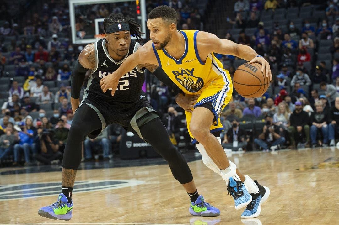 Curry mantiene invictos a Warriors y establece nueva marca equipo