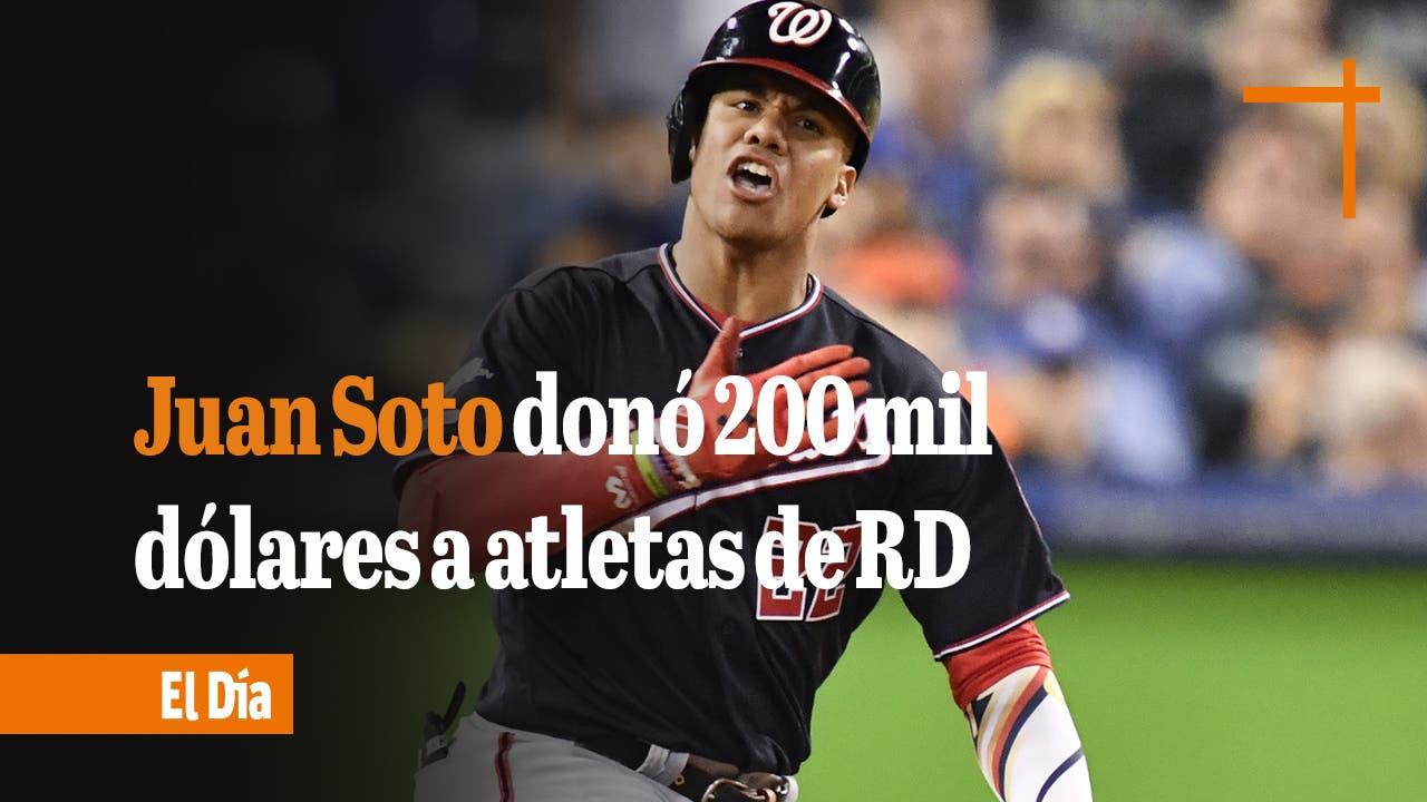 RESUMEN DEPORTIVO: Juan Soto donó 200 mil dólares a atletas dominicanos que participaron a Tokio 2020