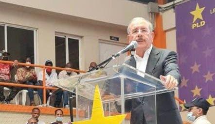 Danilo Medina juramentará el domingo más de 2 mil nuevos miembros del PLD en La Vega