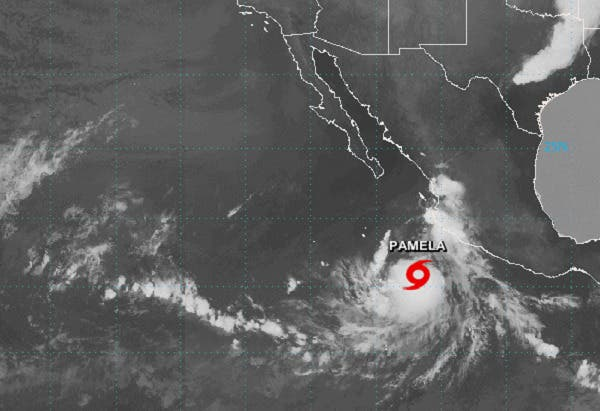 Se forma la tormenta tropical Pamela en el Pacífico mexicano