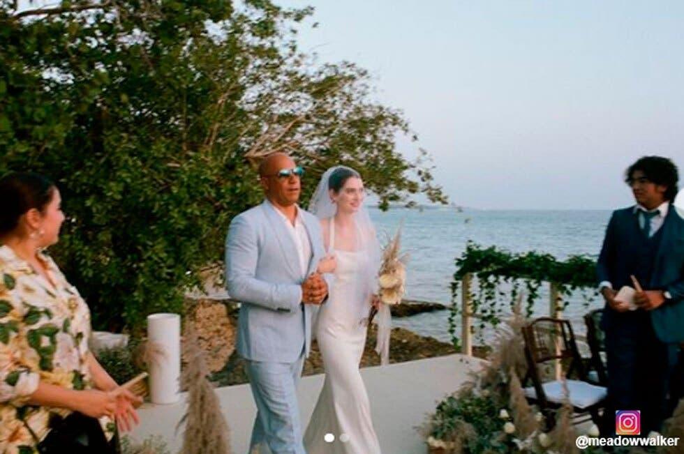 Hija de Paul Walker se casó y Vin Diesel la entregó en el altar