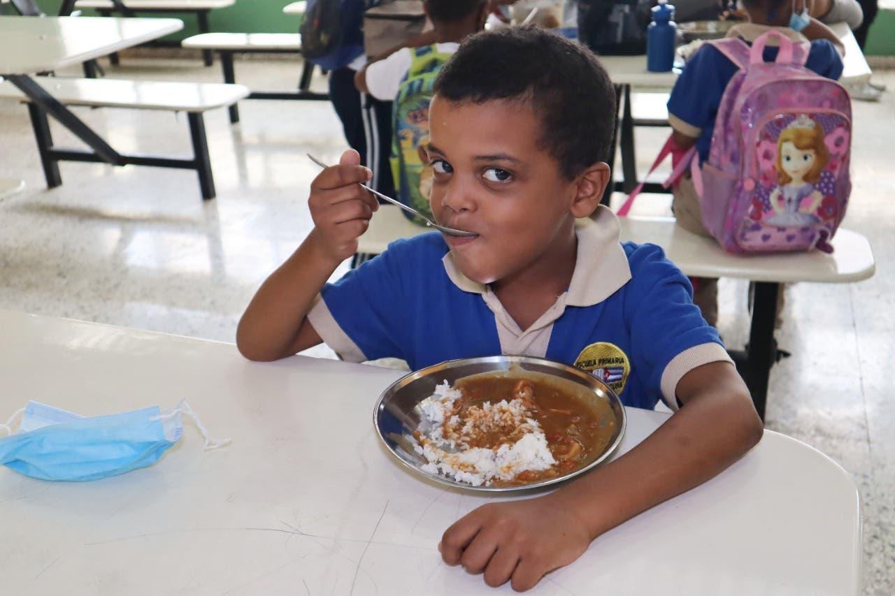 INABIE invierte más de RD$13 mil millones de pesos en almuerzo escolar